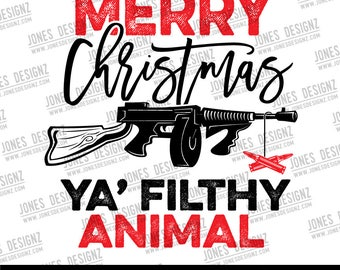 Filthy Animal Digital Artwork, Sublimation Designs, Printable Designs, Instant Download, Christmas Movies Quotes, Home Alone
