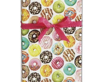 Donut Wrapping Paper| 2 feet x 10 feet| Christmas Gift Wrapping Paper
