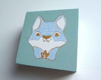 Fox wooden jewelry box