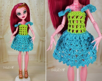 Clothes/Outfit/Knitted Dress for Monster High dolls