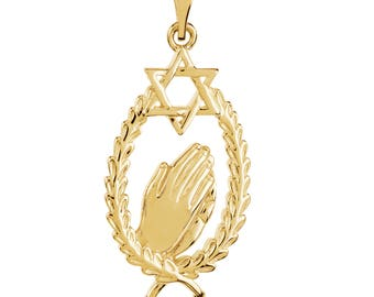 Wings of Remembrance Star of David Pendant©
