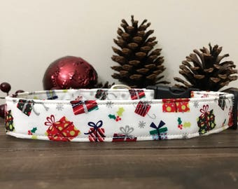 Dog Collar, Christmas Dog Collar, winter Dog Collar, present dog collar, gift dog collar, christmas present dog collar, dog collar, sale