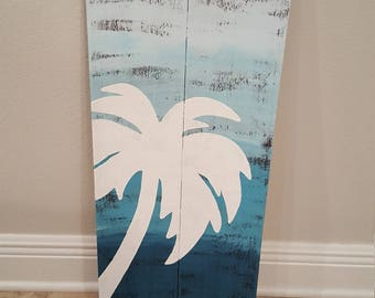 Tropical Palm Tree Sign