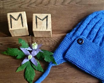 Baby's Hand Knitted Hat with Ear Flaps
