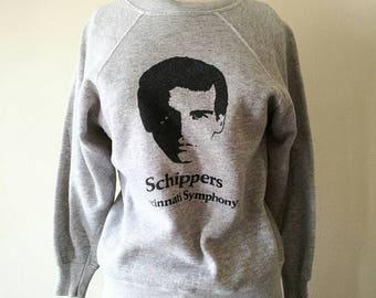 """Vintage 1970s  raglan sleeve gray sweatshirt """"Schippers"""""""