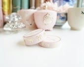 PRESALE - Pink with champagne GOLD foil bow washi tape set - 15mm and 10mm