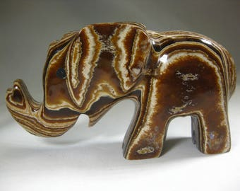 Moroccan Aragonite Elephant Carving