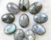 Labradorite - oval cabochons - 20mm/3g each - set of 12