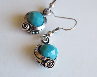 Ethnic earrings - teal - approx.