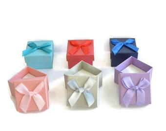 6 boxes box for rings mix color 37mm
