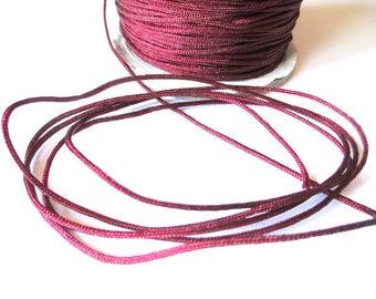 5 m 1.5 mm Burgundy nylon string