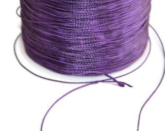 5 m wire purple 0.5 mm polyester cord