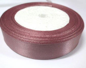 1 reel 22 m colored satin ribbon want pink 20mm