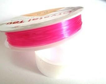 1 reel of 7.50 m thread elastic Crystal pink 0.8 mm