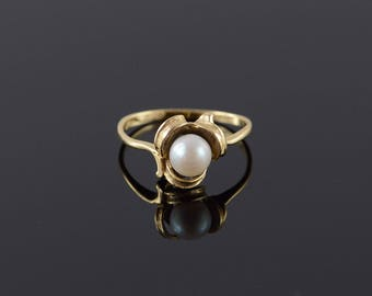 14k 5mm Pearl Classic Ring Gold