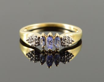 10k 0.51 CTW Tanzanite Diamond Ring Gold
