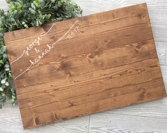 Rustic Wedding Guest Book Alternative,  Wood Guest Book Alternative, Rustic Chic Wood Wedding Sign,