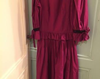 Rasberryred vintage dress by Laura Ashley