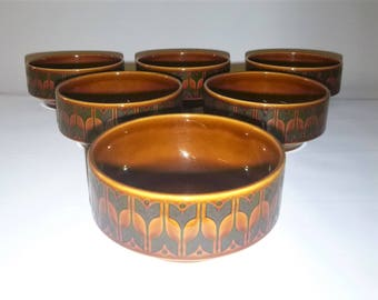 Hornsea Heirloom pottery soup bowls, Six available
