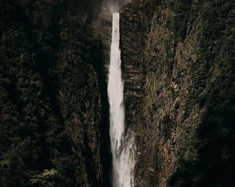 Waterfall New Zealand Mountains Fine Art Travel Landscape Photography Print