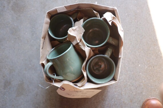 Sea Glass Bubble Mug Set of Four