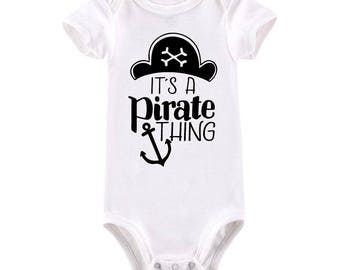 Nautical baby gift etsy its a pirate thing anchor nautical baby bodysuit nautical baby gift pirate baby aargh negle Gallery