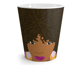 Latte Mug This Is Me Collection  Afro American