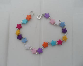 Bracelet multicolored stars