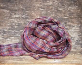 SALE - Linen Scarf, Various colors Linen Scarf