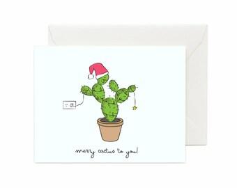 "Cactus ""Merry Cactus To You"" Greeting Card"