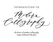 Beginner's Modern Calligraphy Digital Workbook - Instant Download, Printable workbook / Guide, Calligraphy exemplar, Hanwriting