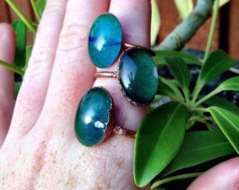 Mood ring | statement mood ring | retro ring | hippie ring | mood changing glass ring