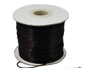 Black 1.5 mm waxed polyester cord