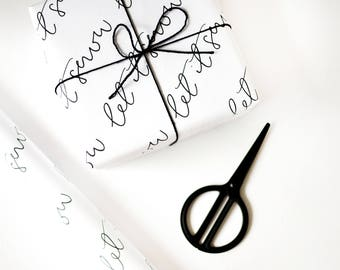 Let It Snow / Calligraphy Gift Wrap /