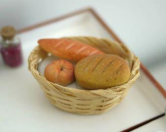 Dollhouse miniature bakery bread