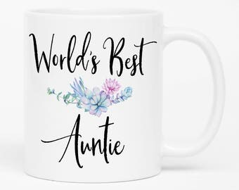 Worlds Best Auntie, Worlds Best Aunt Gift, Gifts for Auntie, Best Aunt Ever, Best Auntie,  Auntie gifts, coffee mug, aunt mug, new aunt mug