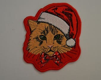 12 cat embroidered badge