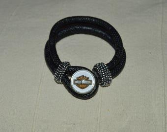 Black harley davidson leather strap
