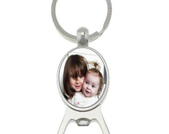 bottle opener Keychain with photo to choose