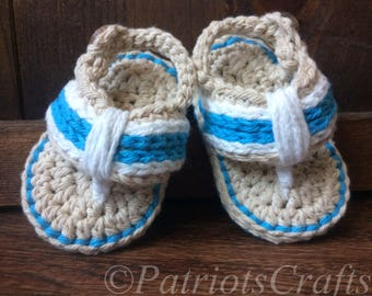 Baby Flip Flops, Crochet Baby Flip Flops, Crochet Baby Sandals, Baby Summer Shoes, Infant Sandals, Baby Shoes, Handmade Flip Flops, 2 colors