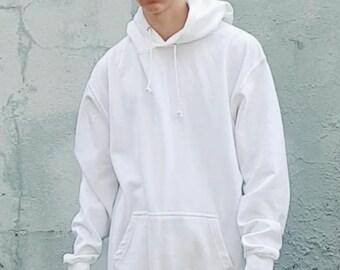 Oversized Ringspun Cotton Hoodie White