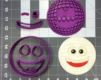 Happy Golf Ball 101 Cookie Cutter