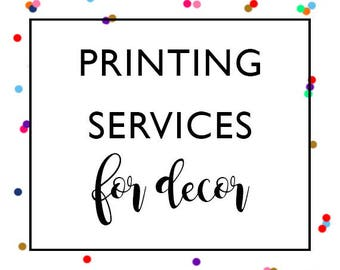 Words And Confetti Printing Services ADD-ON