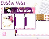October Note Set | Planner Stickers