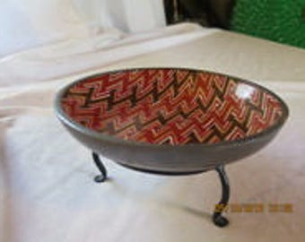Bowl from Neiman Marcus, Porcelain and Pewter, made in Japan, Hong Kong
