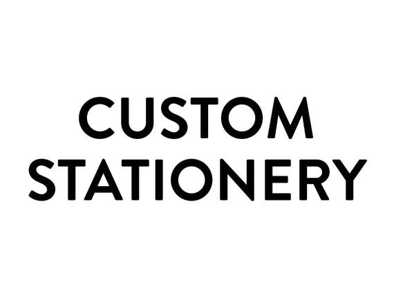 Custom Letterpress Stationery - A2 Flat Cards (Black Ink)