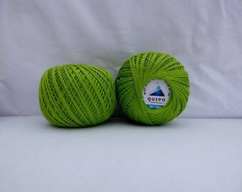 cotton yarn to crochet or knit light green