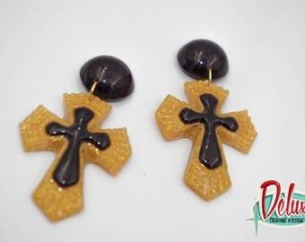 Cross - Dangle earrings