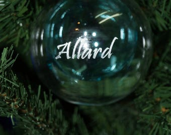 Personalised glass christmas bauble,engarved christmas gift,babys 1st christmas, in loving memory, bespoke christmas gift, christmas bauble
