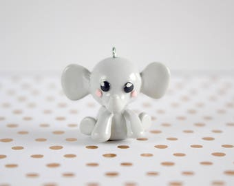 Polymer Clay Kawaii Baby Elephant